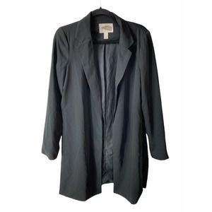 Forever 21 Black Long Sleeve Notch Lapel Blazer